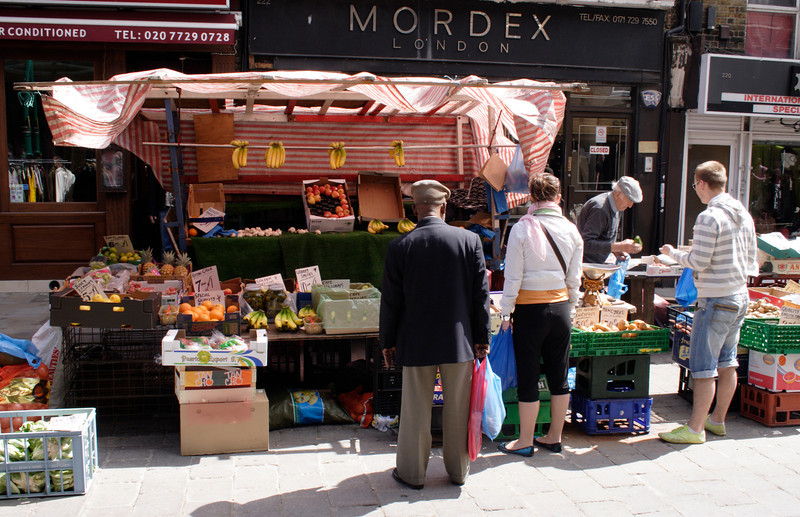Fruit and Vegetable stall Brick Lane Market London
