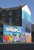 Graffiti on side of house near Brick Lane East End London