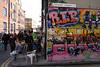 Graffiti off Brick Lane and street market London