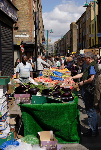 Fruit stall Brick Lane Market London