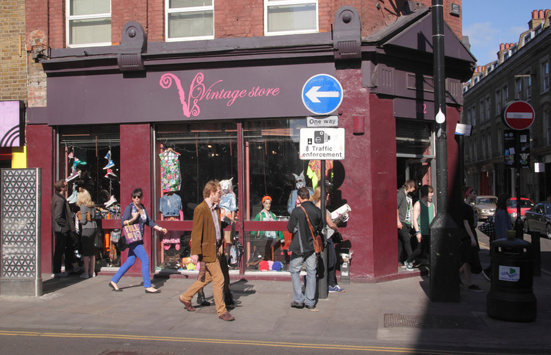 Vintage Store retro clothes shop Brick Lane London