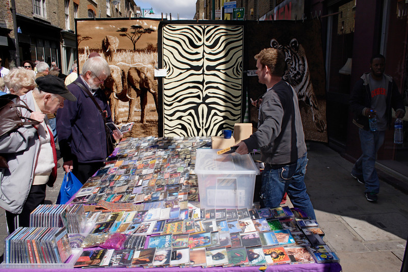 CD stall Brick Lane Market London