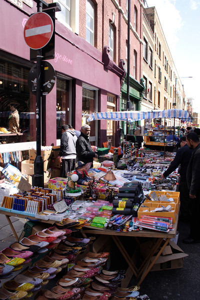 Stall at Brick Lane Market London