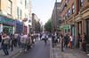 View along Brick Lane in London's East End June 2013