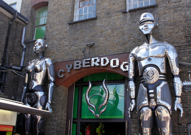 Cyberdog shop at the Stables Market Camden London July 2010