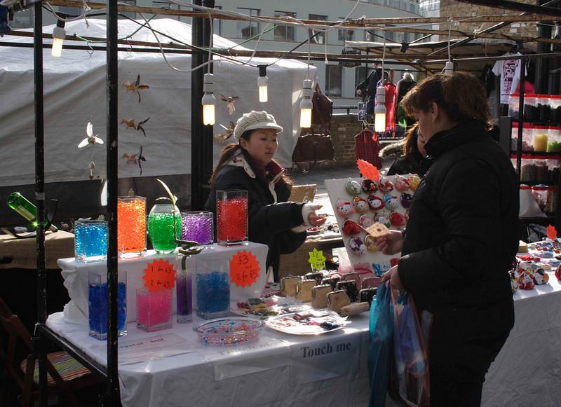 Stall at Camden Lock Market February 2008