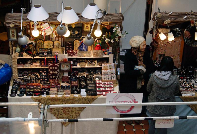 Shoppers at Camden Lock Market London February 2008