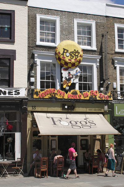 Foggs Restaurant Bar Camden Town London summer 2010