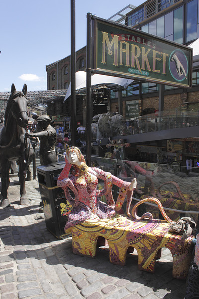 "Stables Market Camden London summer 2010 Sculpture - ""Scarlet"" by Francony Kowalski"