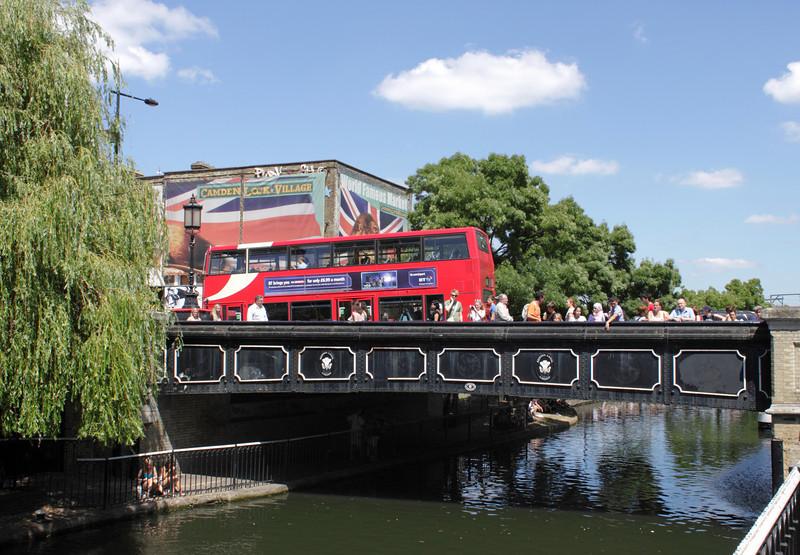Bridge over Regents Canal Camden Town London summer 2010
