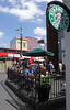 Starbucks Coffee shop Camden Town London summer 2010