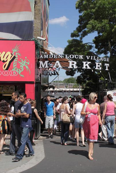 Entrance to Camden Lock Village Market London July 2010