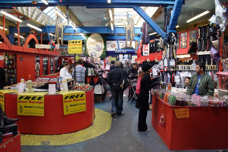 The Camden Gift Centre at Camden Canal Market London February 2008
