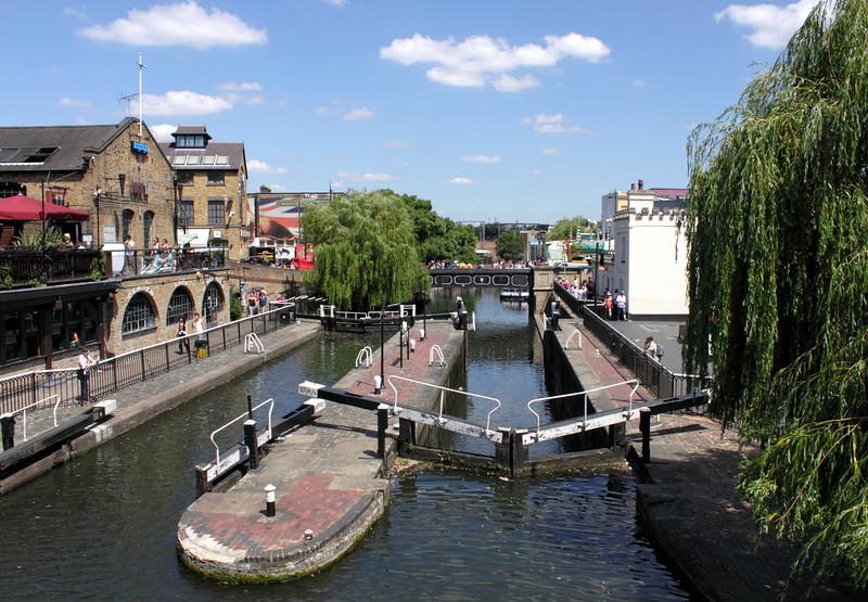 Regents Canal and Camden Lock London summer 2010