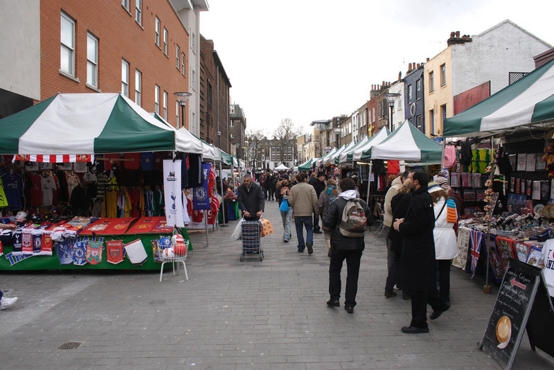 Inverness Street Market Camden London February 2008