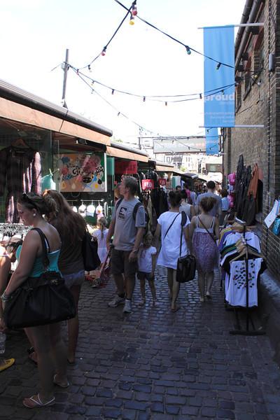 Stalls at Stables Market Camden London summer 2010