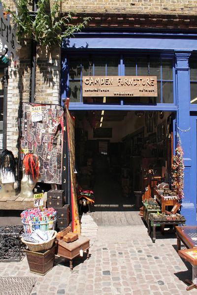 Camden Furniture shop at the Stables Market Camden London July 2010