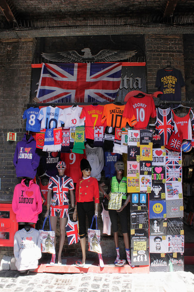 T shirts for sale at Camden Stables Market London July 2010