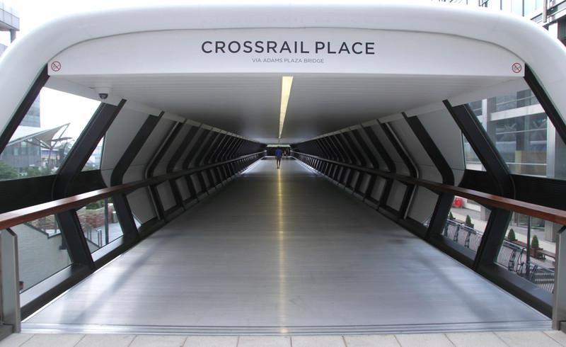 Adams Plaza Bridge to Crossrail Place Canary Wharf London