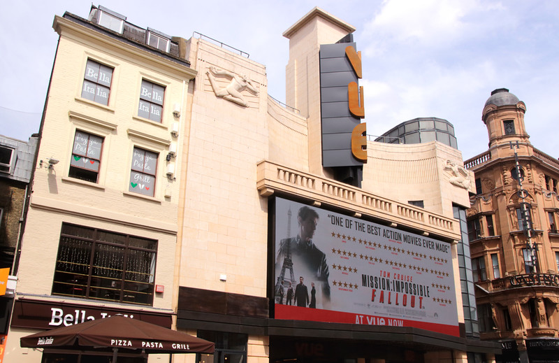 Vue Cinema Leicester Square London August 2018
