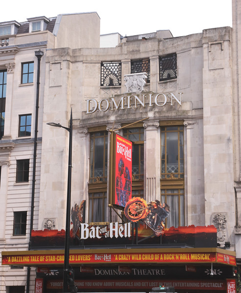Bat Out of Hell showing at Dominion Theatre London August 2018