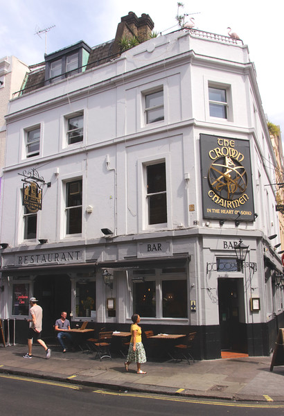 The Crown & Two Chairmen pub Dean Street Soho London