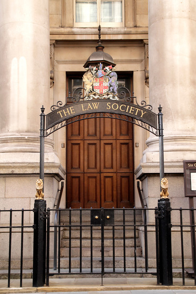 Entrance to The Law Society library Chancery Lane London