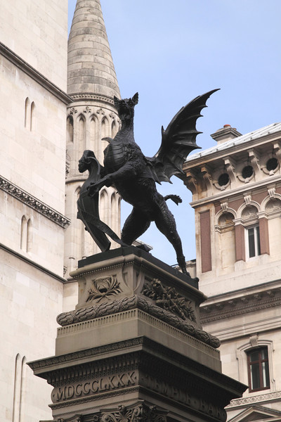 Griffin statue at Temple Bar Fleet Street London