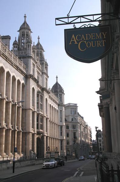 Chancery Lane London Kings College on left