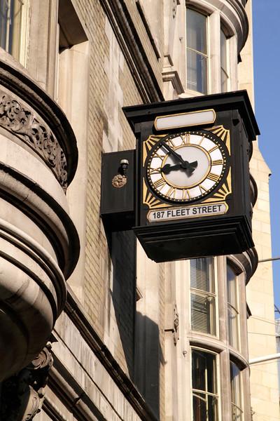 Clock at Romanian Orthodox Church Fleet Street London