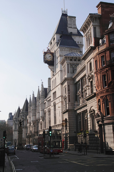 Fleet Street London towards Royal Courts of Justice
