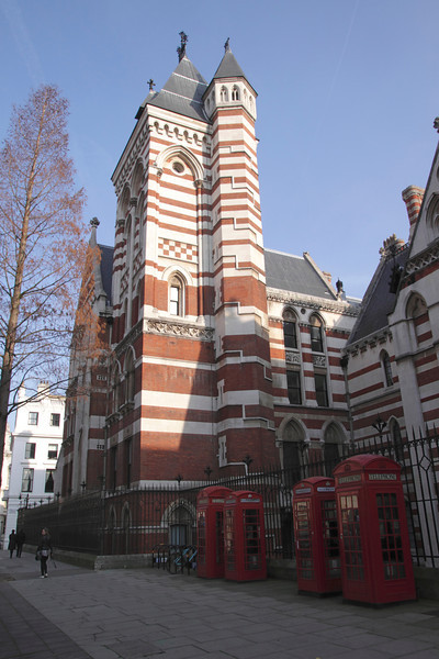 Rear of Royal Courts of Justice Carey Street London