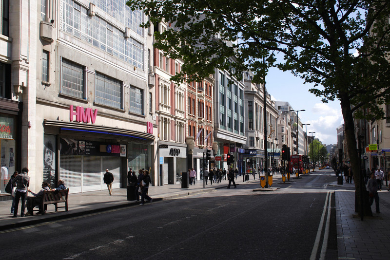 View along Oxford Street London May 2009