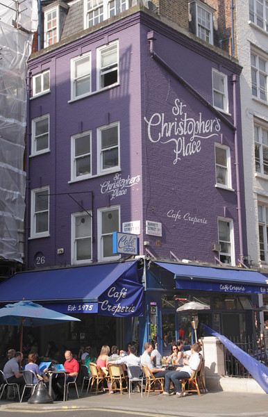 Cafe Creperie at St Christopher's Place London