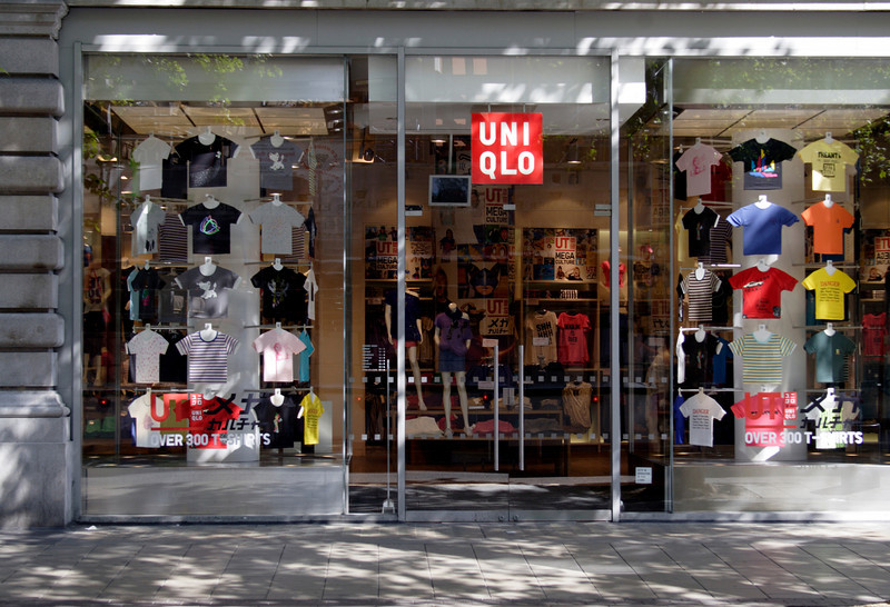 UNIQLO clothes store Oxford Street London May 2009