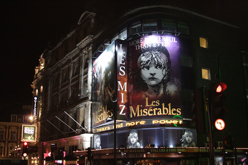Les Miserables at the west end London January 2008