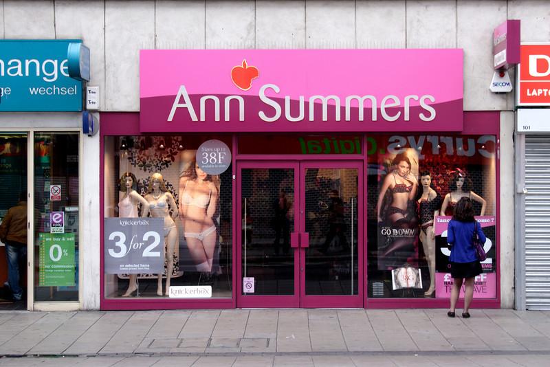 Ann Summers shop Oxford Street London May 2009
