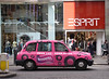 Pink London taxi Oxford Street London February 2008