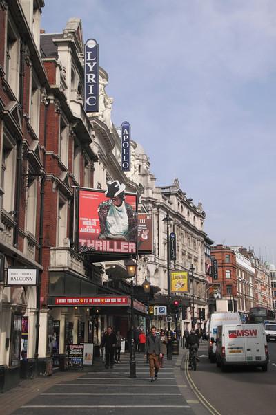 Shaftesbury Avenue London March 2012