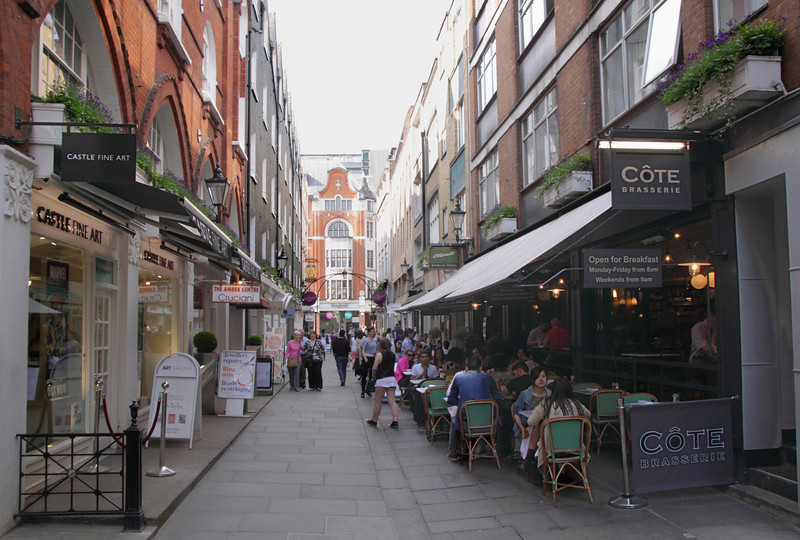 St Christopher's Place in the West End London