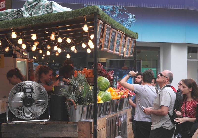 Fruit stall Oxford Street London England