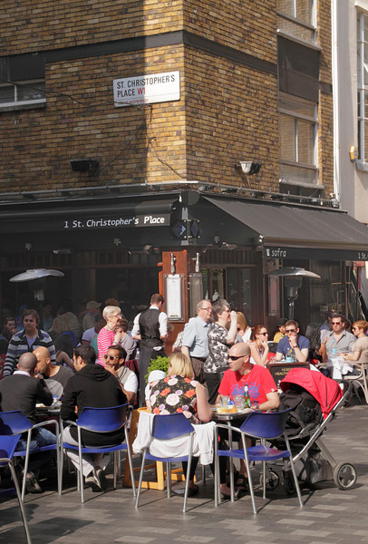 Dinning at St Christopher's Place London