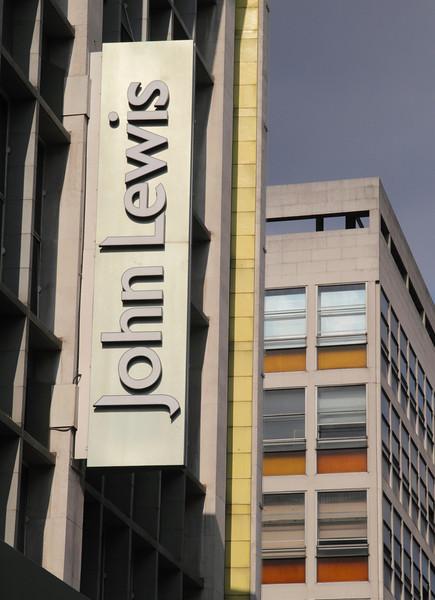 John Lewis Department Store sign Oxford Street London