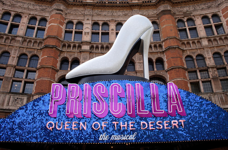 Priscilla Queen of the Desert showing at the Palace Theatre London April 2009