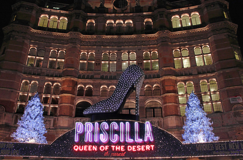 Priscilla Queen of the Desert showing at the Palace Theatre London November 2011