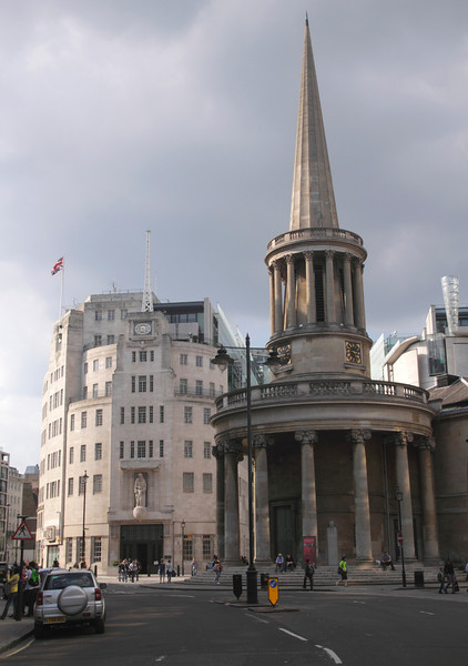 All Souls Church and BBC Broadcasting House London