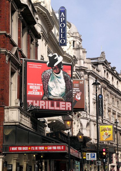 Thriller showing at the Lyric Theatre Shaftesbury Avenue London March 2012