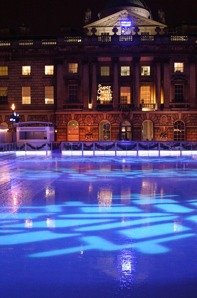 Ice skating rink Somerset House London Christmas 2008
