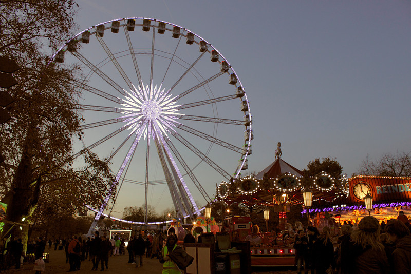 Ferris wheel at Winter Wonderland Hyde Park London Christmas 2011