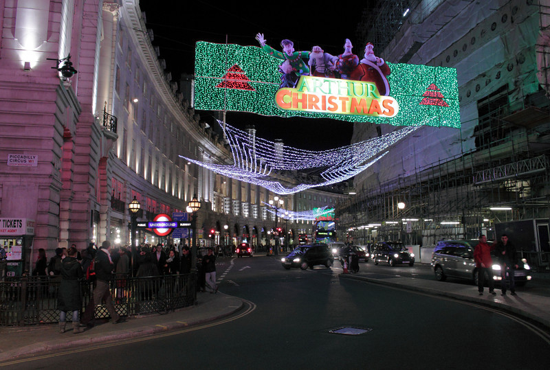 Christmas lights at Regents Street London November 2011